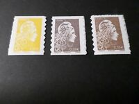 FRANCE 2018, LOT 3 timbres AUTOADHESIFS MARIANNE L ENGAGEE, neufs** MNH STAMPS