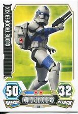 Star Wars Force Attax Series 3 Card #52 Clone Trooper Kix
