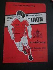Scunthorpe United V  Altrincham FA Cup   1980/1