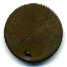 1809 1/2 PENNY US HALF CENT CLASSIC HEAD US SCARCE LOW MINTAGE KEY DATECOIN#401