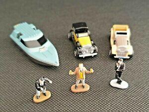 Micro Machines 007 Speed Boat - '37 Rolls Royce - Hispano Suiza + 3 Figures