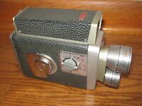 Vintage KODAK BROWNIE TURRET 8mm MOVIE CAMERA with 3 LENSES