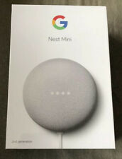 Google Nest Mini (2nd Generation) Smart Speaker - Chalk Brand New Voice Control