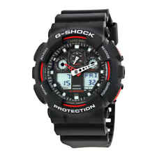 Casio G-Shock Black Resin Strap Men's Watch GA100-1A4