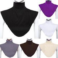 Women's Modal False Collar Hijab Moslem Islamic Vogue Neck Cover Loop Scarf Y9H5