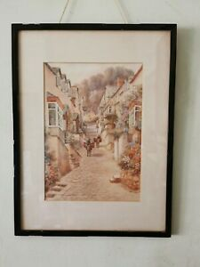W. Sands (T. H. Victor), 1894-1980) Vintage Watercolour of Clovelly, North Devon