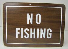 Old NO FISHING Sign masonite board store display aquarium fish store advertising