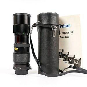 Near-Mint Vintage Vivitar 85-205mm f/3.8 Zoom Lens Minolta Mount w/Case