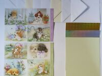 Hunkydory Little Paws Cute Puppies & Kittens Cardmaking Pack Makes 8 Cards