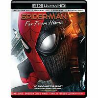 Spider-man: Far Far Home (4K + 3D + Blu-ray) (4 Disc) (Region Free) (2019) (New)