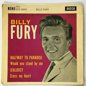 "BILLY FURY Halfway To Paradise   1962 UK Decca Rock & Roll P/S 7"" EP"
