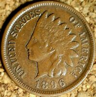 1896 Indian Head Cent - HIGHER GRADE VF++  (K493)