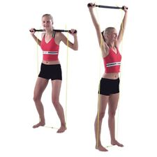 Cando Unweighted EXERCISE BAR w Tubing Padded Fitness Rehab Home Gym 10-2979