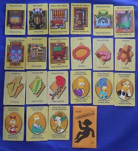Clue Simpsons Case File Weapons Crime Scene Replacement Cards Set 1st Ed. 2000
