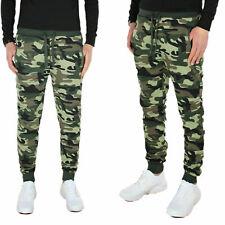Pantalone Uomo Slim Fit Tuta Sportiva Joggers Sport Fitness Verde Militare VEQUE
