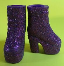 VINTAGE 90's THE SPICE GIRLS PURPLE GLITTER PLATFORM BOOTS BARBIE DOLL SHOES