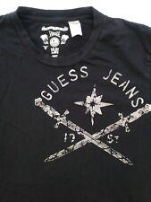 GUESS VINTAGE 1981 Black CROSSED SWORDS T SHIRT Size L