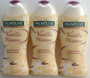Palmolive Gourmet Vanilla Pleasure Body Butter Shower Cream 3 x 250ml
