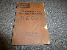 Caterpillar Cat 951B Traxcavator Crawler Parts Catalog Manual S/N 86J1-86J1991