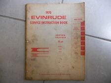 GENUINE 1970 Evinrude 4 HP OutBoard Boat Motor Service Repair Manual 4006 4036