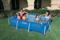 INTEX  Rechteck- Family Pool    220 x 150 x 60 cm   Art.Nr 28270 + Filterpumpe
