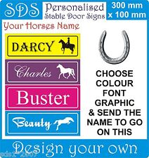 Personalised stable door horse name plate plaque any colours hd print xmas gift