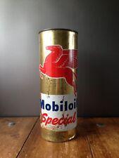 1950'S MOBILOIL SPECIAL PEGASUS CYLINDER CAN 2.5L MOBIL OIL FUEL GARAGE DISPLAY