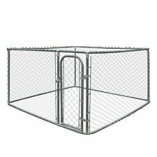 ALEKO Dog Kennel 7 1/2' x 7 1/2' x 6' DIY Chain Link Outdoor Pet Cage