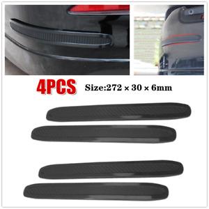 4PC Universal Car Bumper Corner Rubber Strips Anti-scratch Protector Guard Trims