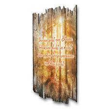 Wandbild Herbstgold Shabby aus Holz mit Spruch und Motiv Wand-Deko 30x20
