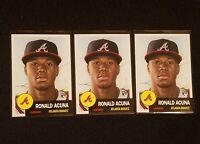 2018 Topps Living Set LOT of (3) Ronald Acuna Jr. RC #19 Rookie Atlanta Braves