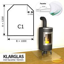 Temprix Funkenschutz & Glasbodenplatte | Klarglas Bodenplatte für Kamin & Ofen