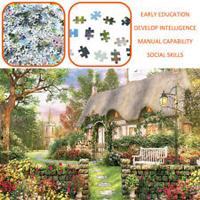 Jigsaw Puzzle Toy 1000 piece For Adults Fun Games England Cottage DIY Puzzles