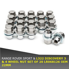 20pcs 22MM WHEEL NUT SET LR068126 For RANGE ROVER SPORT & L322 DISCOVERY 3 & 4