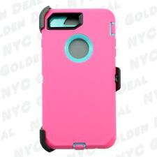 Pink TL for Apple iPhone 8 Defender Case Cover (Belt Clip Fits Otterbox)