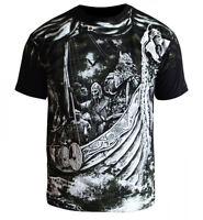 T-Shirt Viking Floki Ragnar Thor Dobermans Skull Tattoo Odin Odyn Warrior Wiking