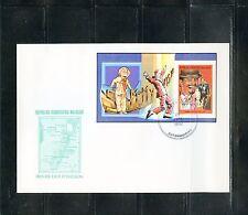 MALAGASY 1992 SAMY DAVIS Jr  PERFORATE DELUXE SOUVENIR SHEET  FDC