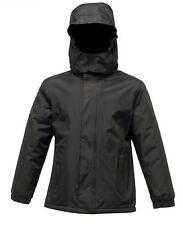 Regatta Rg250 Junior Kids Squad Jackets Childrens Polyester Waterproof Snow Suit Black 7-8