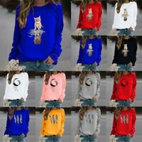 Women Sweatshirt Ladies Pullover Jumper T Shirt Tops Blouses Plus Size Tops Tee