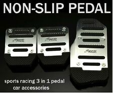 3 PCS Car Auto Vehicle Non-slip Pedal Aluminium Alloy