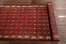 Vintage All-Over Floral Red 10 ft Runner Malayer Oriental Rug Hand-made 3x10 RED
