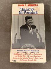 John F. Kennedy Thank You Mr. President VHS 1983 Documentary Brand New Sealed!