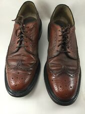 Vintage Sears Wing tips Brown Size 8.5D Pebble
