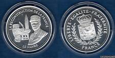 La Reconstruction de la France Le Havre Argent 999% BE Silver France