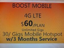 Boost Mobile BYOD 3 Month Service PROMOTIONAL OFFER   $60 Unlimited  Plan