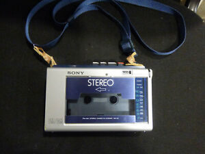 Vintage Sony AMS Stereo Soundabout FM/AM Cassette - Corder WA-33 Tested WORKS