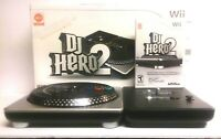 DJ Hero 2 Turnable for Nintendo Wii & Dj Hero 2 Game Excellent Condition
