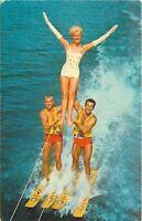 Cypress Gardens Forida~Adagio Act~Waterskiing Pyramid~Bathing Beauty~1964