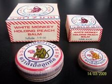 2 G x 3  WHITE MONKEY HOLDING PEACH BALM Ointment Herbal Medicine Pain Relief