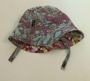Patagonia Toddler Girl Sun Bucket Hat Purple Pink Floral Blue Giraffe Reversible
